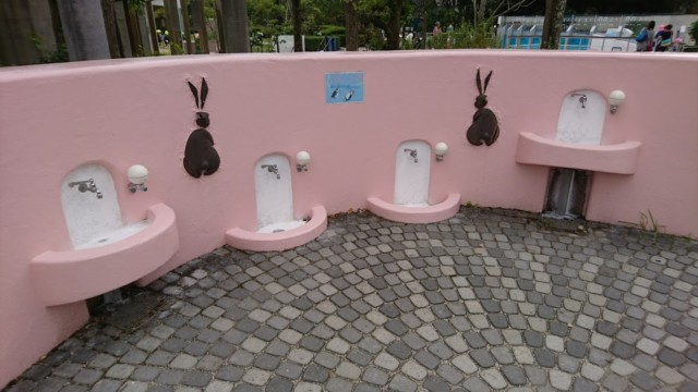 とくしま動物園 手洗い場