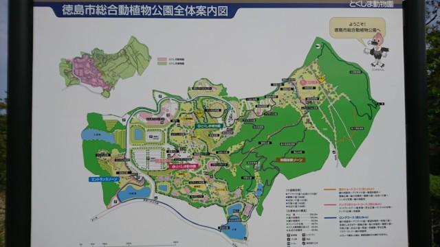とくしま動物園 園内マップ