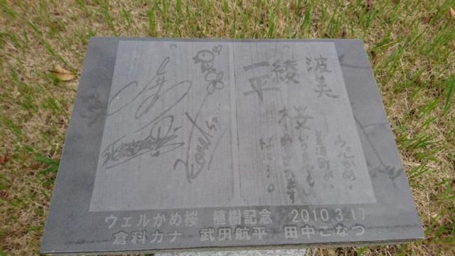 ウェルカメ 記念石碑