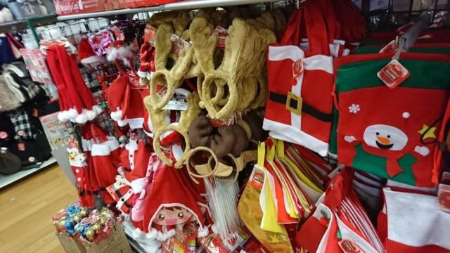 ダイソー クリスマス あたま 帽子