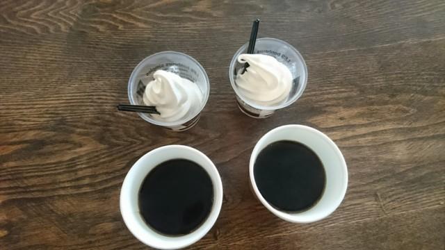ホットコーヒー&ソフトクリーム